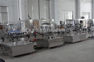 BCGFZ-18186冲洗灌装封盖直线生产线-玻璃瓶三、四旋盖生产线